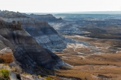 Plaine et badlands de Blue Mesa dans Petrified Forest National Park, Arizona