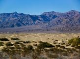 Mesquite Flat Sand Dunes dans la Vallée de la mort, Californie