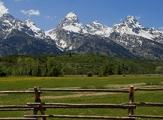 Vue sur la chaîne des Tetons, Wyoming