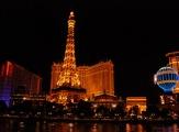 Hôtel Paris de nuit à Las Vegas