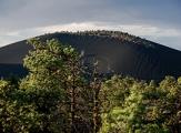 Sable noir volcanique de Sunset Crater Volcano National Monument, Arizona