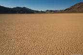 Etendue désertique de The Racetrack dans la vallée de la mort