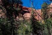 Kolob Arch, visible après environ 12 kilomètres de marche dans le nord de Zion