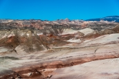 Paysage de la Hartnet Road vers Cathedral Valley dans Capitol Reef