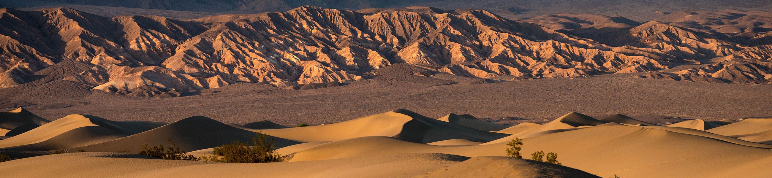 Mesquite Dunes dans la Vallée de la Mort