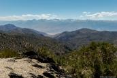 Vue sur la Sierra Nevada d'Ancient Bristlecone Pine Forest