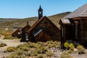 Eglise et maisons de Bodie, Californie