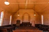 Intérieur de l'église méthodiste de Bodie, Californie