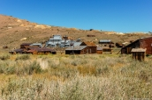 Vue de bodie et son ancienne mine d'extraction d'or, Californie