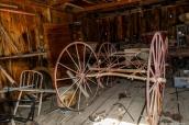 Une charrue dans un atelier de Bodie, Californie