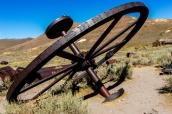Vieille roue utilisée pour l'extraction de l'or à Bodie, Californie