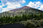 Dégradé de couleurs sur les pentes de Sunset Crater, Arizona