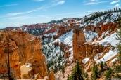 Le sud du parc, plus élevé en altitude, conserve la neige plus longtemps