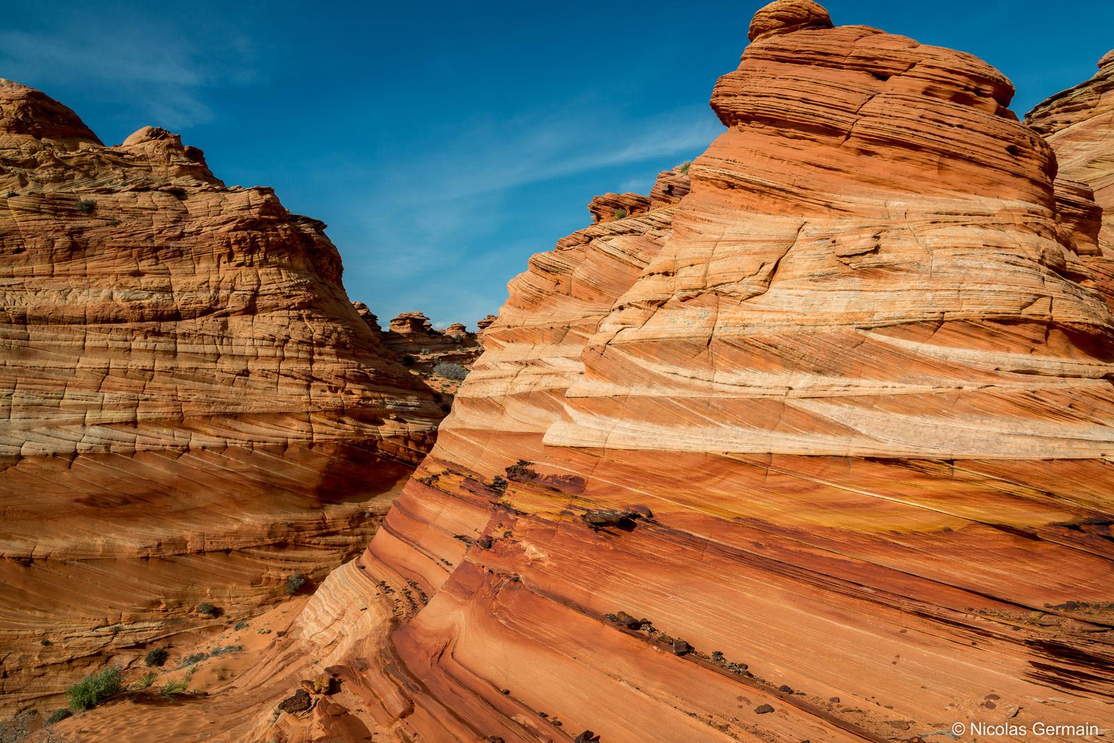Buttes striées de Coyote Buttes South, section Cottonwood Cove, Arizona