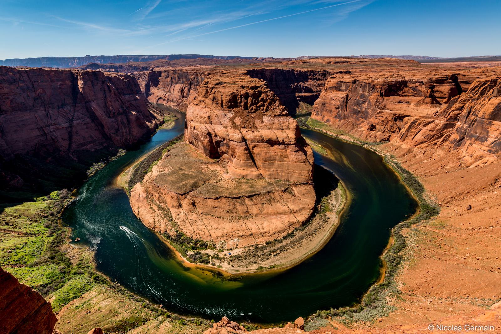 Méandre du Colorado à Horseshoe Bend près de Page, Arizona