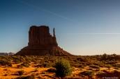 West Mitten Buttes à la lumière du matin dans Monument Valley