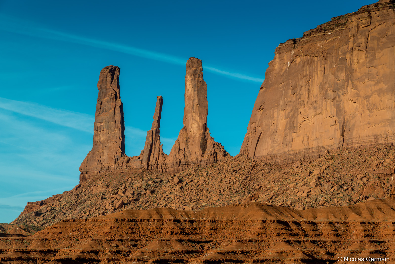 Three Sisters dans Monument Valley