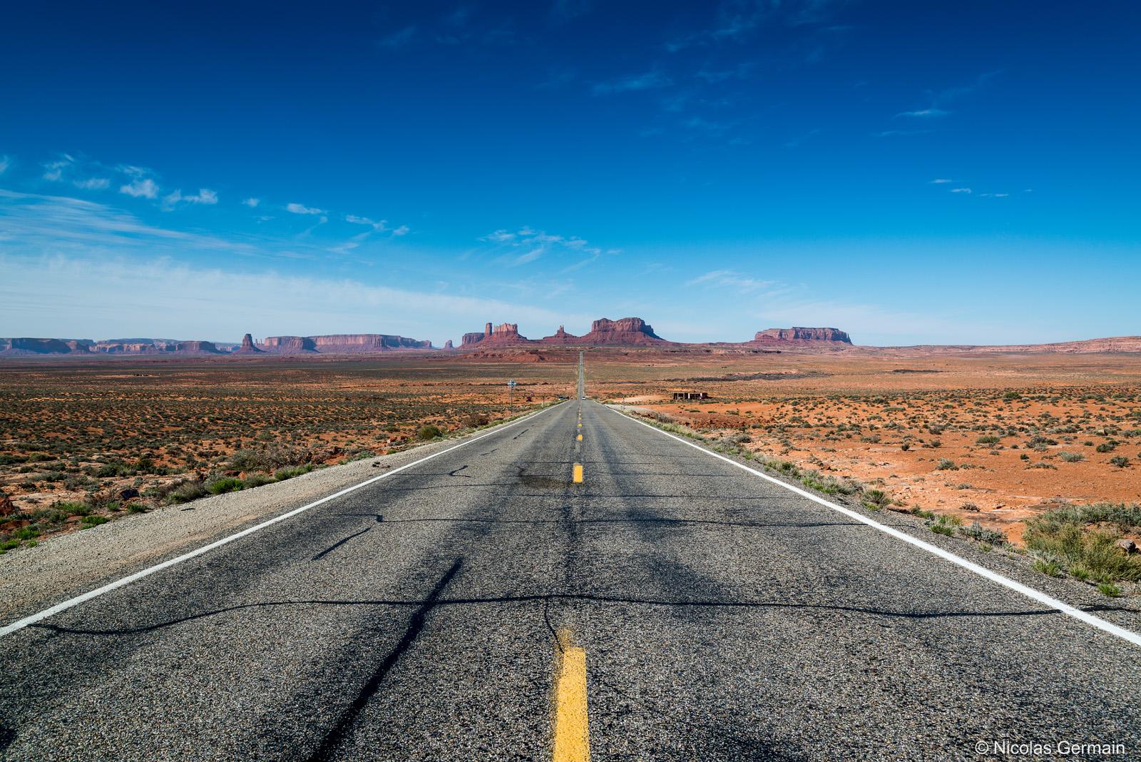 Entre Monument Valley et Mexican Hat, un paysage vu de nombreuses fois au cinéma (Forrest Gump notamment)