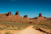Piste traversant les paysages de Valley of the Gods
