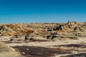 Badlands, buttes et hoodoos à Bisti Badlands, Nouveau-Mexique