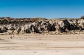 Hoodoos le long de la plaine de Bisti Wilderness, Nouveau-Mexique