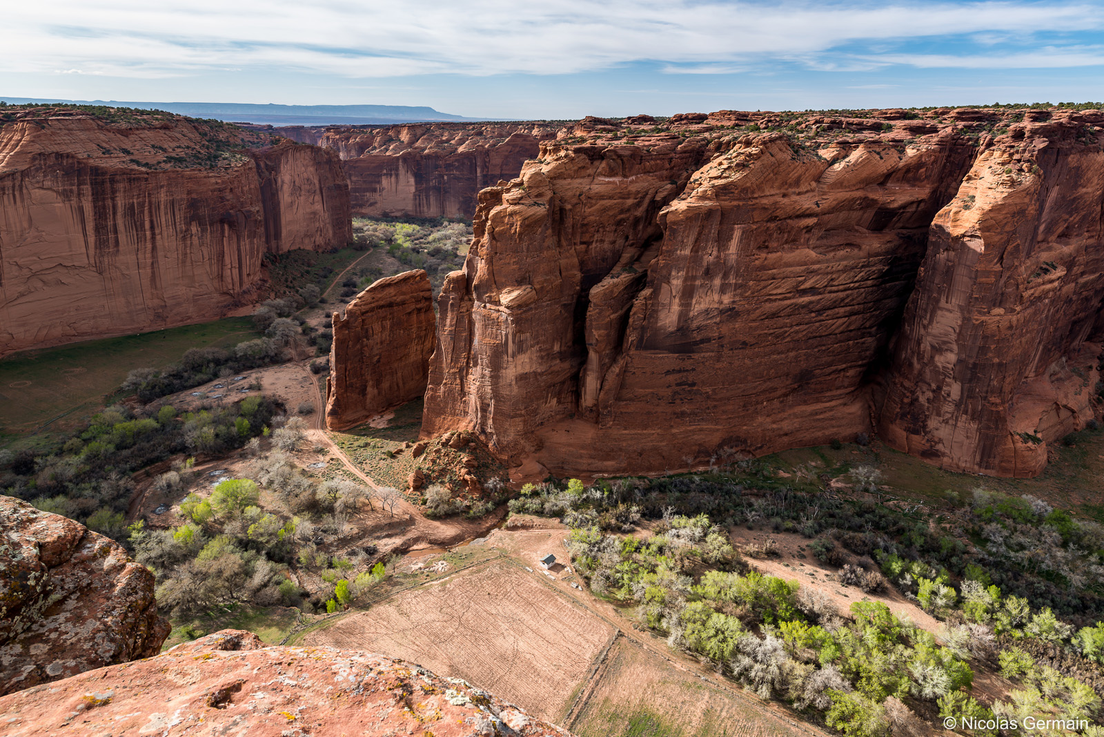 Canyon de Chelly vu de Sliding House Overlook