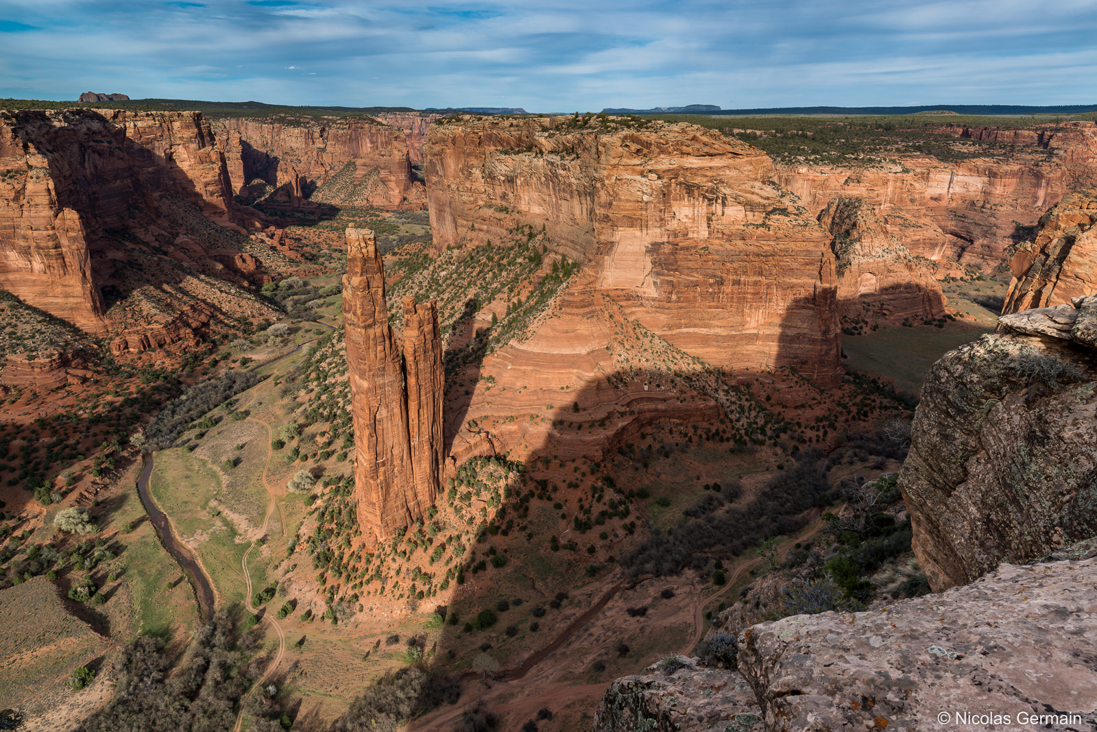 Spider Rock, sur la rive sud du Canyon de Chelly