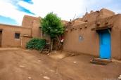 Les maisons de Taos Pueblo sont construites en adobe, mélange de terre, de paille et d'eau