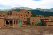 Bâtiments en adobe de Taos Pueblo, Nouveau-Mexique
