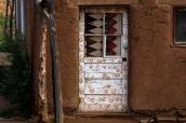 Certaines maisons en adobe de Taos Pueblo sont encore habitées, Nouveau-Mexique