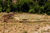 Pueblo de Tyuonyi dans Bandelier National Monument, Nouveau-Mexique