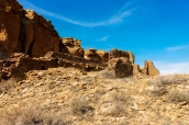 Ruines indiennes dans Chaco Culture, Nouveau-Mexique