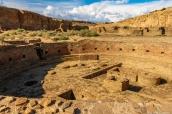 Grande kiva de Chetro Ketl dans Chaco Culture National Historical Park, Nouveau-Mexique