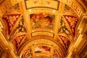 Luxueux plafond de l'hôtel Venetian à Las Vegas, Nevada
