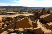 Dans les ruines de Pueblo Bonito, Chaco Culture National Historical Park