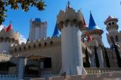 Délire kitsch et médiéval de l'hôtel Exclaibur à Las Vegas, Nevada