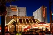Au nord du strip, l'hôtel Circus Circus de Las Vegas est l'un des moins chers