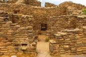Ruines indiennes restaurées d'Aztec Ruins National Monument, Nouveau-Mexique