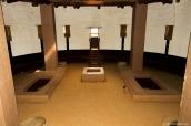 Intérieur de la grande kiva reconstruite d'Aztec Ruins National Monument, Nouveau-Mexique