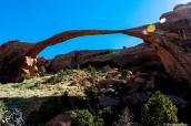 Landscape Arch, plus grande arche du monde dans Arches National Park, Utah