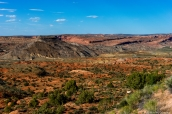 Paysage de roches colorées dans Arches National Park, Utah