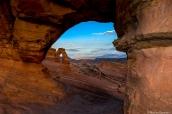 Vue éloignée de Delicate Arch, Arches National Park