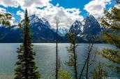 Vue sur les montagnes de Grand Teton depuis Jenny Lake Overlook, Wyoming