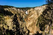 Lower Falls et le canyon de Yellowstone vus de Lookout Point, Wyoming