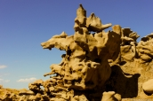 Rocher en forme de tête de coyote dans Fantasy Canyon, Utah