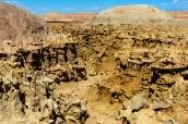 Vue d'ensemble de Fantasy Canyon et ses roches érodées, Utah