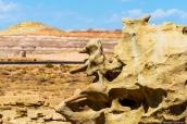 Rocher ressemblant à un ours en train de boxer dans Fantasy Canyon, Utah