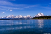Jackson Lake et les montagnes enneigées de Grand Teton National Park, Wyoming