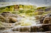 Concrétions colorées de mammoth Hot Springs, Yellowstone National Park