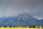 Pluie et orage sur les montagnes de Grand Teton National Park, Wyoming